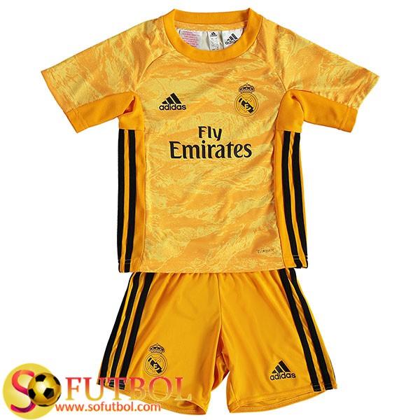 Replicas Exactas Camiseta Pantalones Real Madrid Ninos Portero Amarillo 2019 20