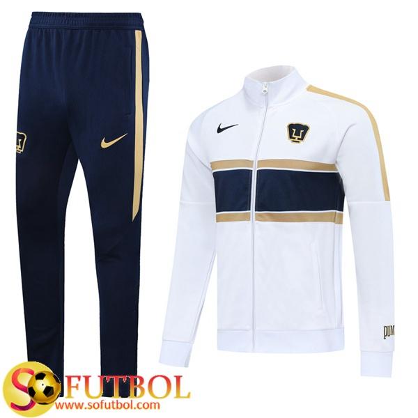 Pez anémona alivio Cuidado  Replicas Exactas | Chandal Futbol Pumas UNAM Blanco 2020/2021 Chaqueta y  Pantalon Entrenamiento