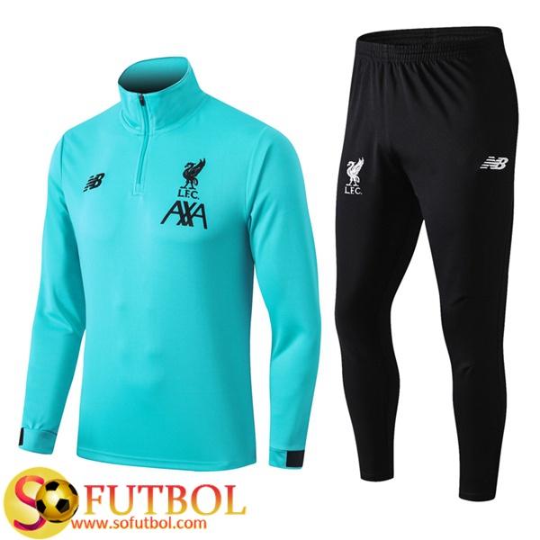 preferir granero Correspondiente  Replicas Exactas | Chandal Futbol FC Liverpool Verde 2020/2021 / Sudadera y  Pantalon Entrenamiento