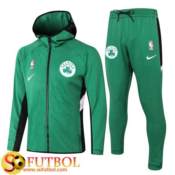 Grillo privado Destreza  Replicas Exactas | Chandal Futbol Boston Celtics Verde 2020/2021 Chaqueta  con capucha y Pantalon Entrenamiento