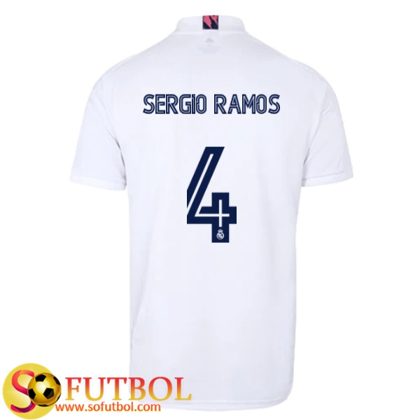 PAOFU-Camiseta de F/útbol de F/útbol Local del Real Madrid 2020 para Hombre # 4 Fan/áticos de Sergio Ramos Conjunto de Camiseta y Pantal/ón Corto